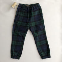 【Finger in The Nose】STORM navy checks unisex woven pants (サイズM、L)
