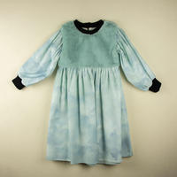 【POPELIN】Sky print dress with yoke