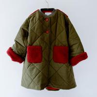 【michirico】quilting long coat カーキ (サイズS、M)
