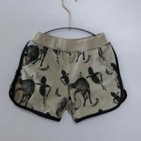 【michirico】 Flora and fauna short pants(サイズL、XL)