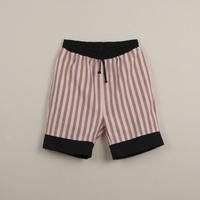 【POPELIN】Red stripes Bermuda shorts
