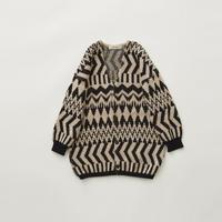 【eLfinFolk】 Folk jacquard knit cardigan(サイズ110、130)