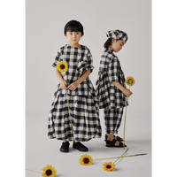 【GRIS】Balloon Skirt Black×White (サイズXS、S)