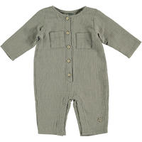 【tocoto vintage 】Striped button overall with front pockets(サイズ12M)