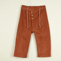 【POPELIN】orange pleat trousers