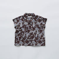 【eLfinFolk】Leaf Paisley open collar shirts