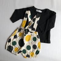 【pilkku】BABY かぼちゃパンツのセットアップ(yellow・green・black)