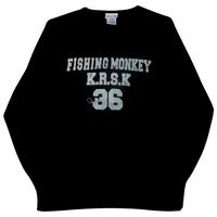 ヴィンテージトレーナー BLACK フィッシングモンキー/FISHING MONKEY
