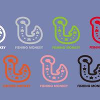 釣針カッティングステッカー フィッシングモンキー/FISHING MONKEY