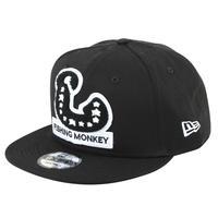 スナップバックキャップ NEW ERA BLACK フィッシングモンキー/FISHING MONKEY