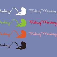 FISHING MONKEYカッティングステッカー フィッシングモンキー/FISHING MONKEY