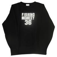 エンブロイダリートレーナー BLACK フィッシングモンキー/FISHING MONKEY