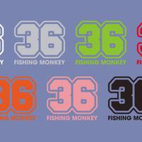 36カッティングステッカー フィッシングモンキー/FISHING MONKEY