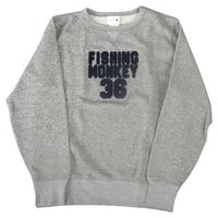 エンブロイダリートレーナー GRAY フィッシングモンキー/FISHING MONKEY