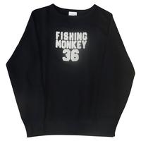 エンブロイダリートレーナー NAVYフィッシングモンキー/FISHING MONKEY