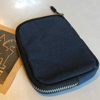 CHROME ZIP WALLET【NAVY】
