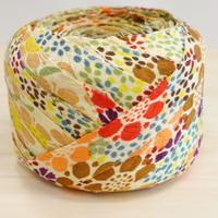 浅黄色に色とりどりの花柄2m(2008004)