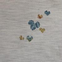 【はぎれ】グレーに蔦柄・紬の小紋(2008096‐1)