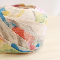 白地に色とりどりの抽象模様・地紋市松柄2m(2006067)