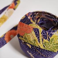 青紫色に萩と菊柄(10131)