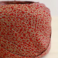 鼠色に臙脂色、薄茶色の霰柄小紋・縮緬2m(2008011)