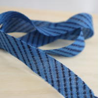 青に黒の変わり縞模様2m(610)