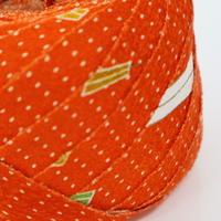 橙色に霰・縮緬2m(2142022)