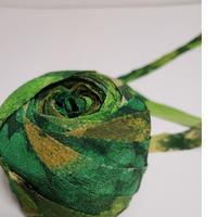緑の草花模様2m(5032)