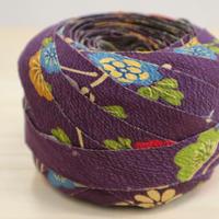 紫に春秋花柄2m(2004062)
