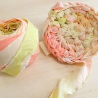 【特別価格・編み物応援80m】桃・黄・黄緑・橙のグラデーション(10159)