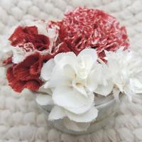 布花キット~絞りのお花と白いお花~