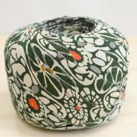 濃い緑に花柄2m(2006040)