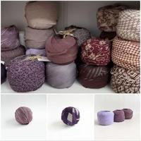 【お試しセット・送料無料】紫・臙脂色系キモノヤーン(20種30m以上)