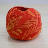 朱色に抽象模様2m(2006065)