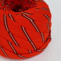 赤に茶の縞・ウール2m(2105015)