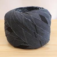 【10m】灰色がかった濃い青に抽象模様・縮緬10m(10186)