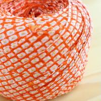 オレンジ色の鹿の子・絞り2m(2004096)