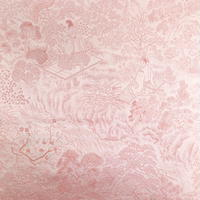 【はぎれ】桜鼠色の絹織物(2008046‐1)