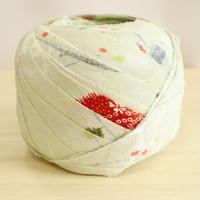 薄い黄緑色に紅葉・縮緬2m(2012018)