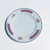 粉紅邊花籠 小皿 o-161