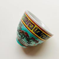 双龍紋茶杯  翡翠 o-139