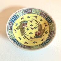 景徳鎮 鳳凰 黄色小皿 o-061