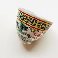 双龍紋茶杯  白 o-137