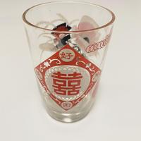 グラス ダブルハピネス花柄   o-109