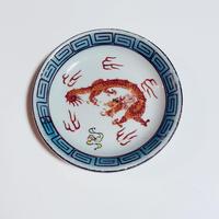民国時代 舞龍 小皿 o-159