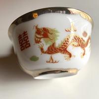 龍鳳柄 茶碗  o-078
