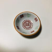 ダブルハピネス舞蝶豆皿 o-092