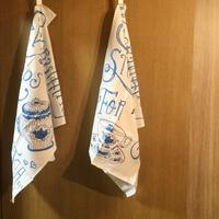 ティータオル  青o-022