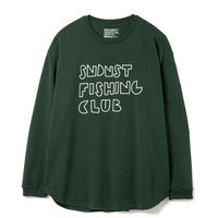 SANDINISTA-Fishing Club L-S Tee【FOREST GREEN】