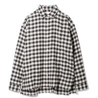 SANDINISTA-Flannel Check Yak Wool Shirt【BLACK OLIVE CHECK】